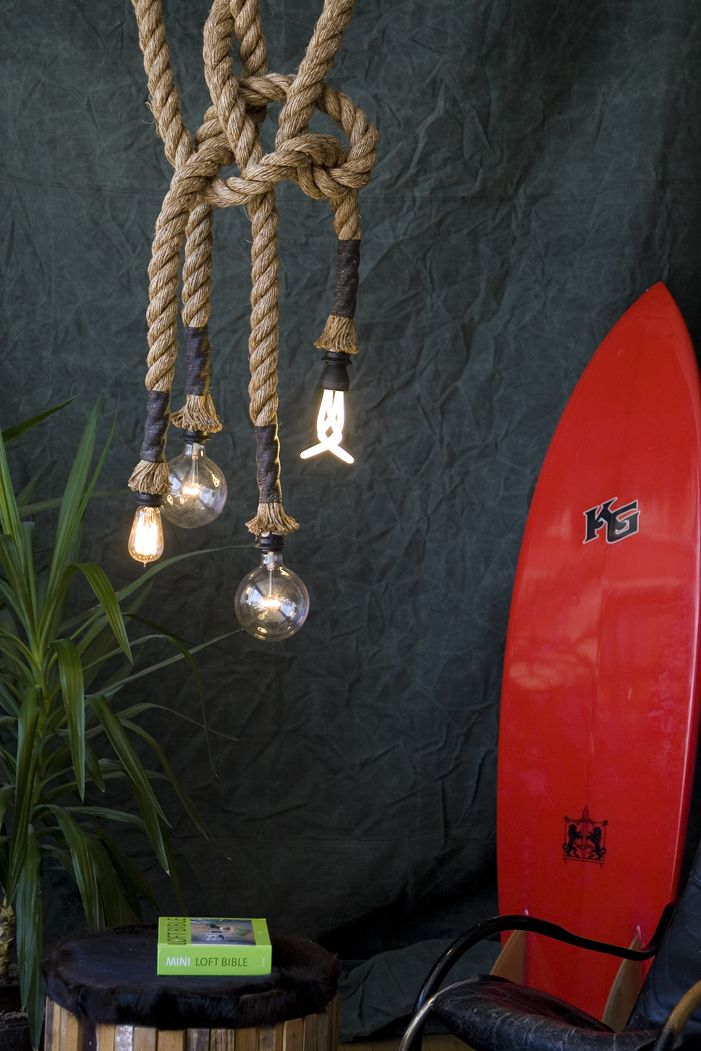 whimsical rope lights with a masculine feel  www.Atelier688.com: Ropes Lighting, 688 Ropes, Dream Closet, Decoration Idea, Lighting Bulbs, Homes Gardens, Lamps Ropes, Awesome Idea, Expo Bulbs