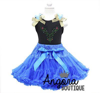 Frozen Anna Inspired Birthday Outfit Tutu Pettiskirt