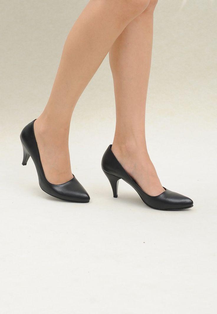 V&O Bona Cilt Siyah Stiletto