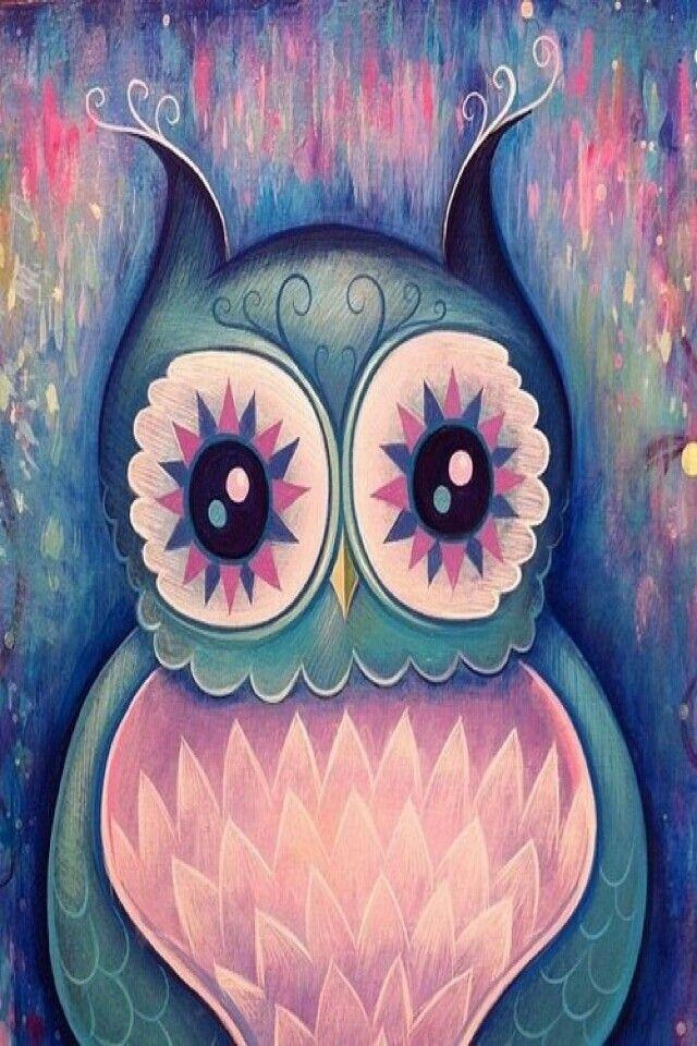Cute Owl Iphone 5 Wallpaper For Kids