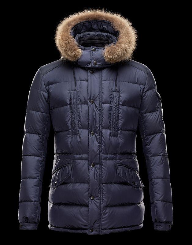 Cheap 2013 Mens Moncler Jackets Sapphire blue