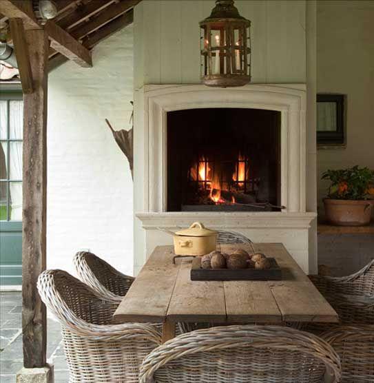 Outdoor Fireplace by Pol Standaert Bruges Belgium