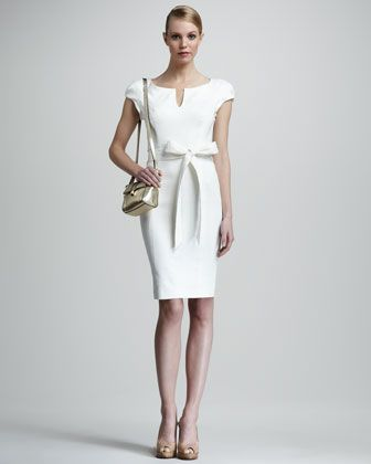 Bergdorf Goodman Milly Haley Sheath Dress, Ivory
