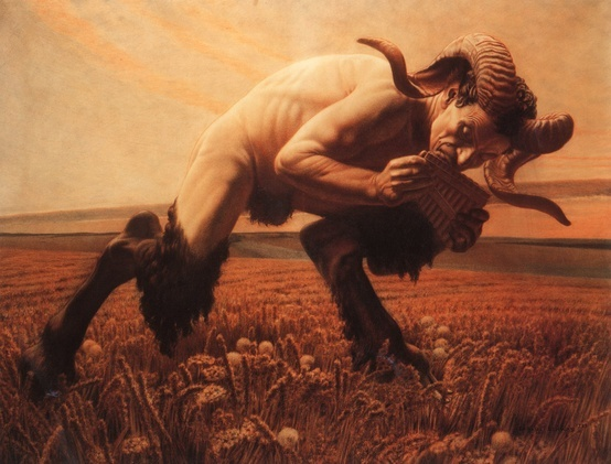Carlos Schwabe ,Le faune, 1923