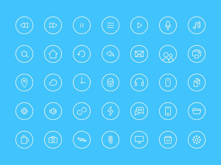 Free Thin Rounded Icons