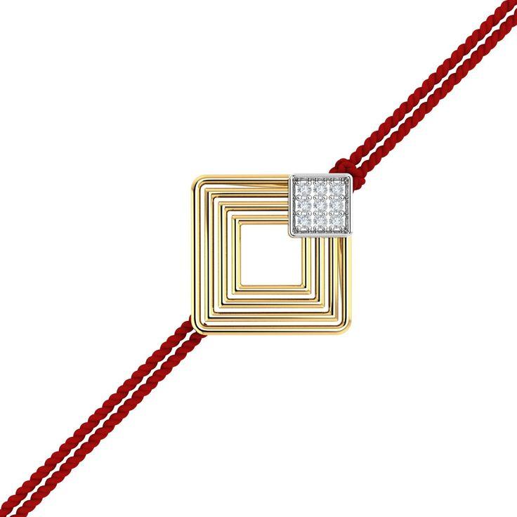 Modern Gold Rakhi Pendant.With a squarish modern design that's studded with diamonds, this is a fantastic rakhi for your brother. This rakhi cum pendant is unique in its style and appeal. #Rakhi #GoldRakhi #GoldandDiamond #RakhiCumPendant #RakhiGift #GiftforBrother #SpecialRakhiGift #RakshaBandhan #18thAugust #RakhiCelebration #BrotherSisterBond #Kuberbox #ShopRakhiOnline #OnlineJewellery
