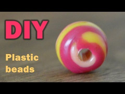 DIY: COLORFUL BEADS FROM PLASTIC BOTTLE TOPS - YouTube