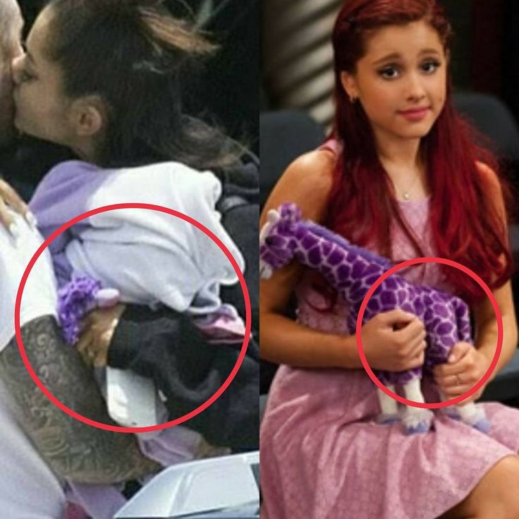 After the Manchester attack, it looks like Ari had her purple giraffe from Sam & Cat gripped in her hands♡