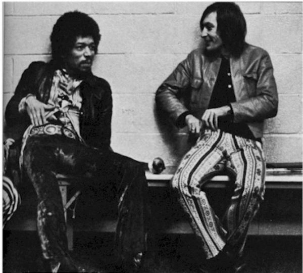 @JustTheTunes    @RollingStones Here's Charlie giggling with Hendrix... #Legends #Charliestoocoolfortwitter pic.twitter.com/XfDPxYSl