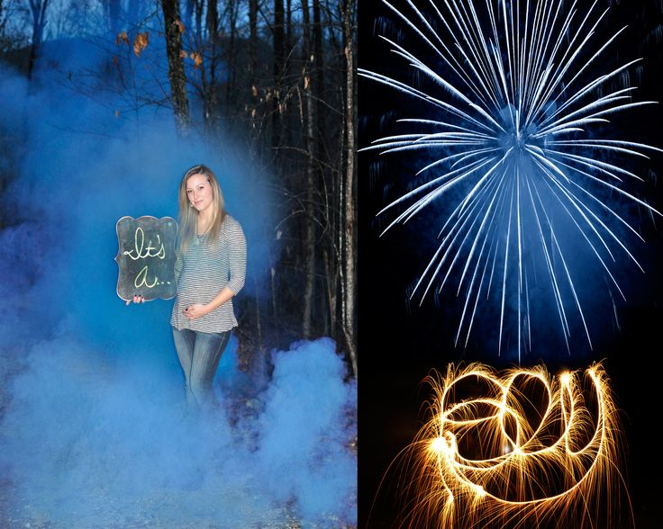 Fireworks, sparklers, and smoke bomb gender reveal ...