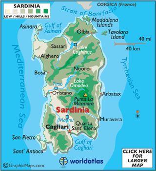 Map of Sardinia - European Maps, Europe Maps Sardinia Map ...