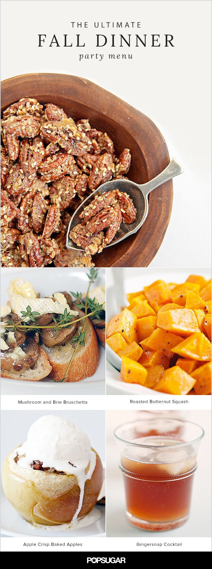 fall bridal shower menu ideas%0A The Ultimate Fall Dinner Party Menu