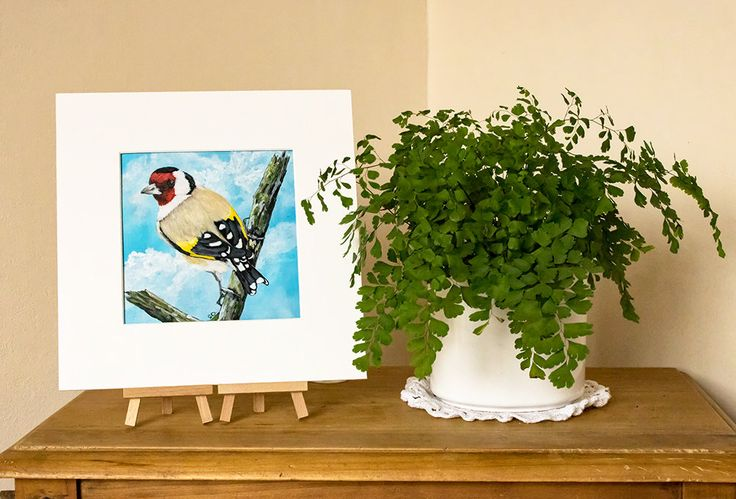 Goldfinch Print from an Original Painting, Wild Bird Art Print, Original Painting Print, Goldfinch, Acrylic Painting Print, Wild Bird Print by SBsPrintables on Etsy