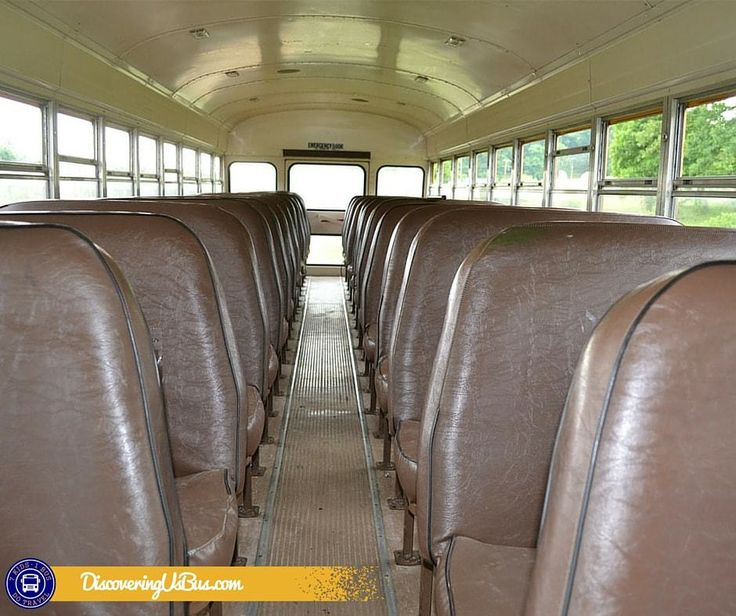 The seats on the bus, go bye -bye. The first step in converting a school bus into a tiny house or RV is removing the seats. discoveringusbus.com