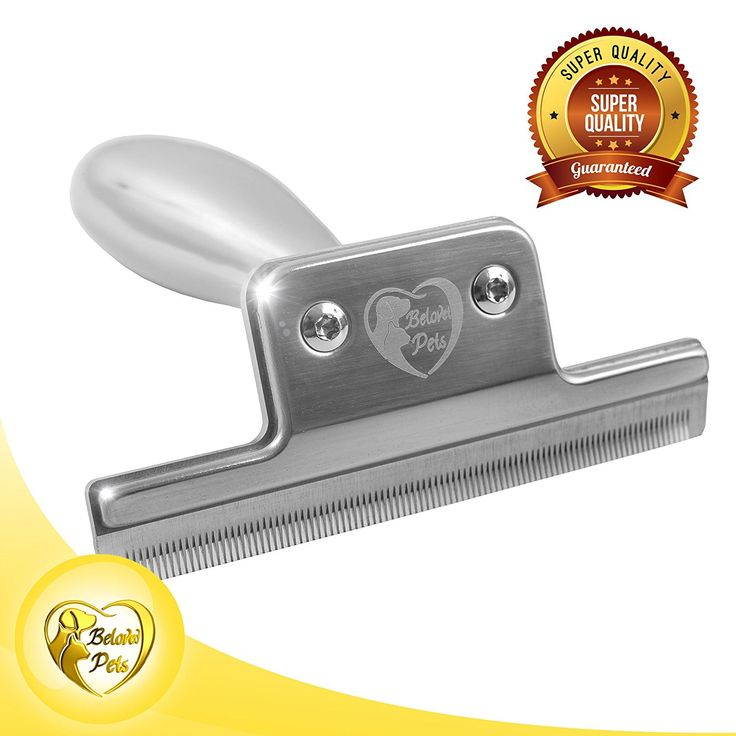 Beloved Pets Deshedding Tool (100%Stainless Steel) - Dog shedding Brush -Pet shedding Brush for Dogs, Cats, Horses, Guinea pigs- Reduces shedding up to 95% -Deshedding for Long and Short Haired Pets. -- Details can be found by clicking on the image. (This is an affiliate link and I receive a commission for the sales)