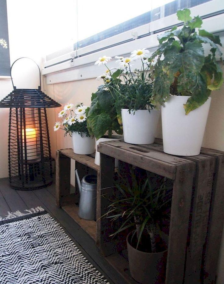 45 Fabulosos Apartamentos Pequenos Con Decoracion De Balcon Ideas Balcony Decor Patio Flowers Apartment Balcony Garden