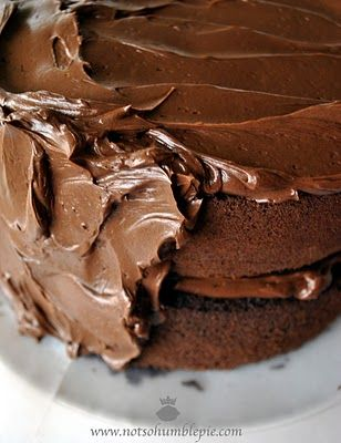 "High Ratio Chocolate Butter Cake aka ""Chocolate Heart Stopping Cake"" !"