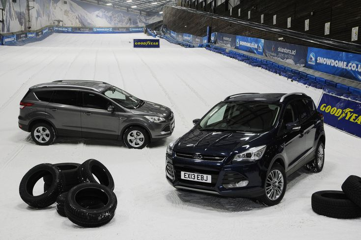 Winter tyres: 4x4 grip test video you got to watch this video. It just proves having the right winter tyres on your Kuga could mean the difference between getting home or being stuck in the snow. A 2WD Kuga beats a 4WD Kuga on the snow. Watch it for yourself.  Just Click on the picture the link will open up the video.