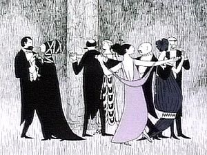 Edward Gorey set the stage with his macabre art for the Mystery! intro. (i love masterpiece theater)