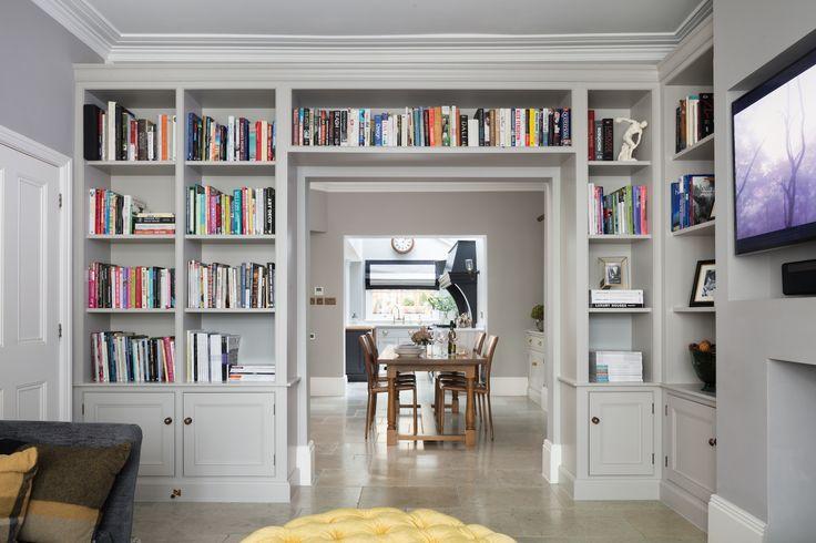 Blackheath project - Emma Collins Interiors - Sitting Room - Bookcase Cabinetry Inspiration - Humphrey Munson Blog