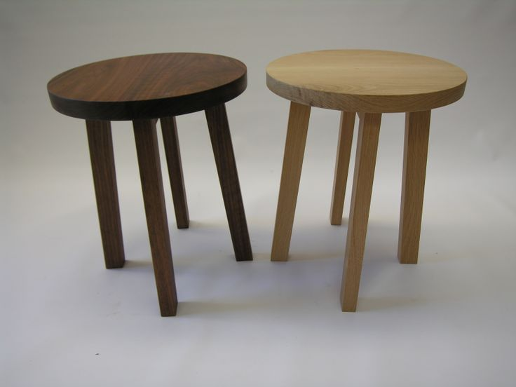 american walnut /american oak side tables ,handmade customized to your requirements @chriscolwelldesign