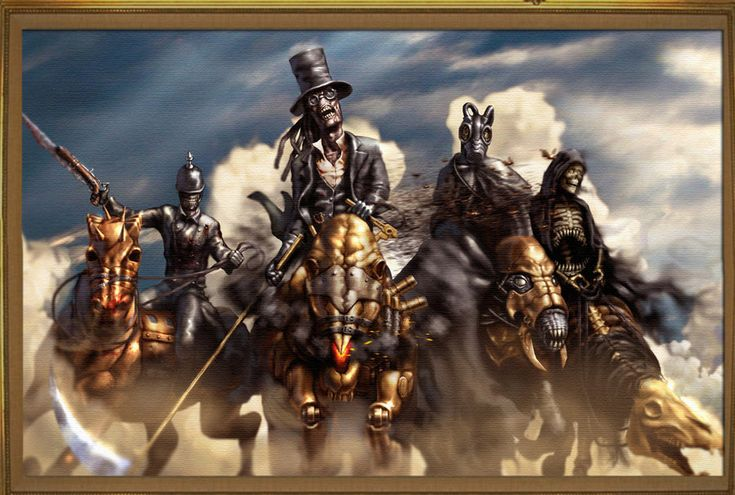 "Four Horseman of the Apocolypse... halloween costume idea.... End of Days: ""The Four Horsemen,"" by AlwynT, at deviantART."