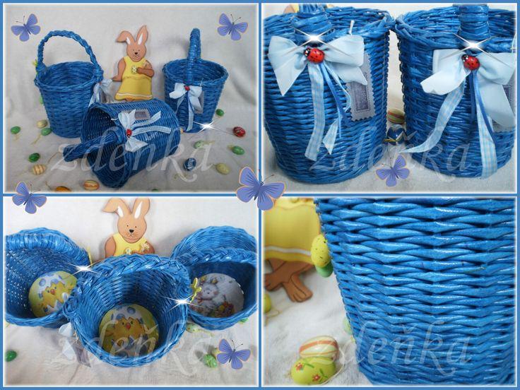 ✿ velikonoční košíčky modré ✿