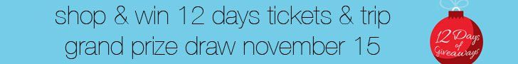 Win two tickets to a 12 Days of Giveaways Show