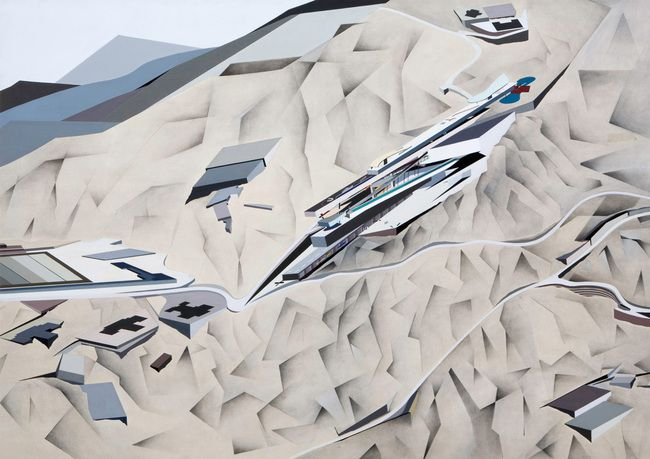 The remarkable early paintings of the late Dame Zaha Hadid | News | Archinect