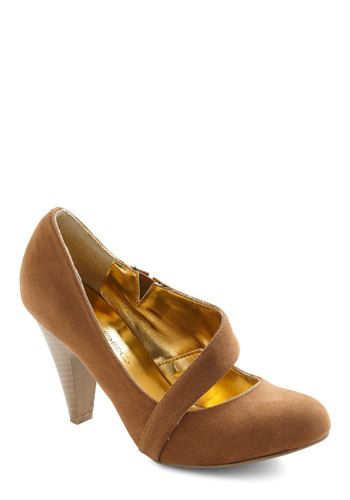 Career Crossover Heel in Sienna, #ModCloth $42.99