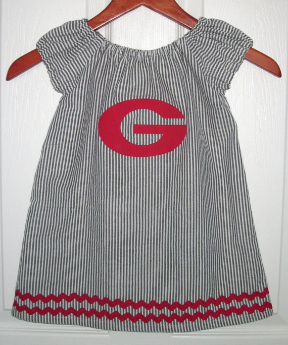 UGA Seersucker Dress by jamnjelli on Etsy, $27.00