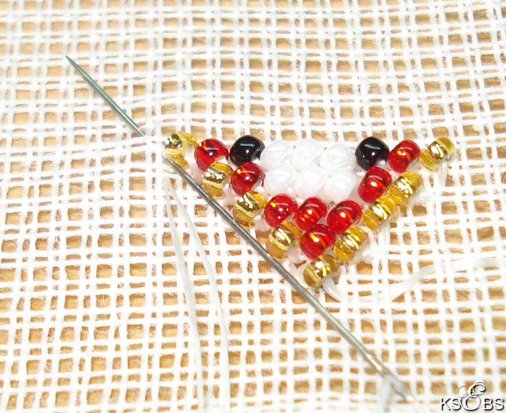 De fleste bringeklutene blir i dag sydd på stramei. For at resultatet skal bli best mulig er det viktig at størrelsen på perlene står i forhold til strameien de skal syes fast på.