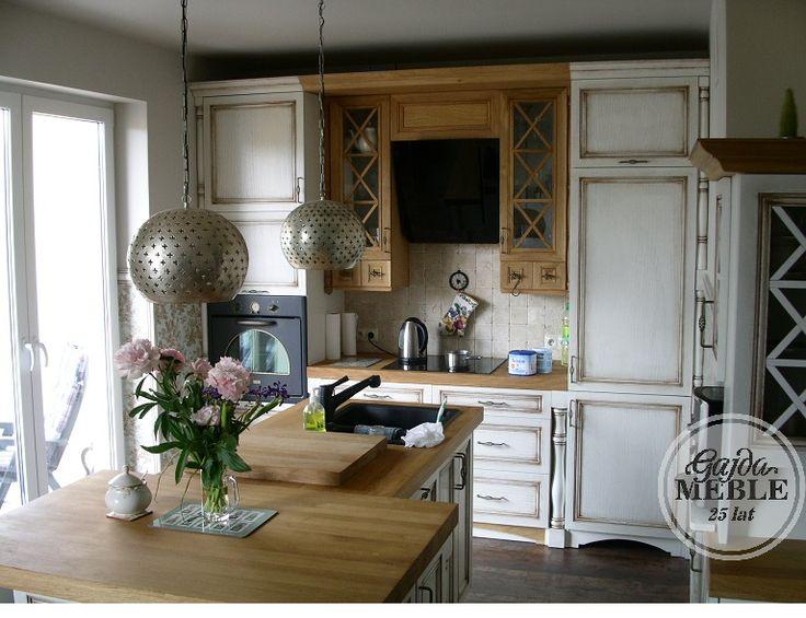 Kuchnia biała prowansalska - Kuchnia drewniana - Meble Gajda Koszalin