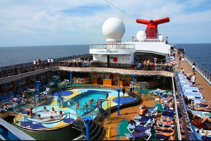 Deck 9 outdoor area. Carnival spirit cruise!!!! Loved every bit of this holiday