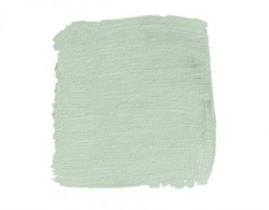 """Last, but not least, we have Benjamin Moore's #458 Sage Tint. Although this has a more green undertone to it than the other two light blues, it reads almost a soft robin's egg blue when up on the walls. It's just more of a """"mystery blue"""" because of those grey/green undertones. There's also great versatility with this color, in the sense that you can punch it up to feel more blue"""