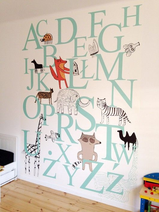 "tapeta na ścianę ""Alfabet"" - Pakamera.pl"