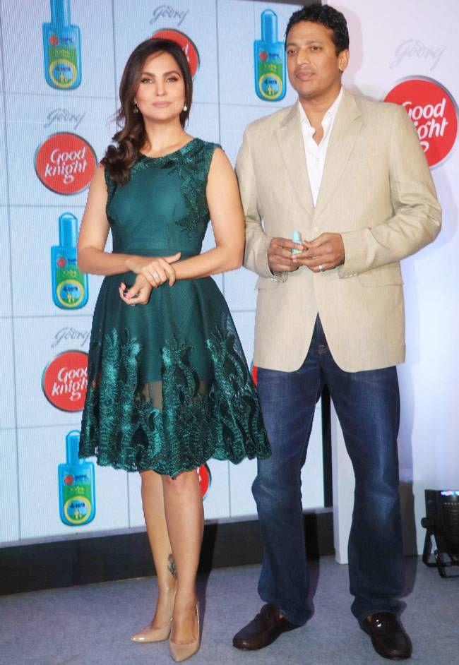 Lara Dutta and Mahesh Bhupathi at an endorsement event. #Bollywood #Fashion #Style #Beauty #Hot #Sexy
