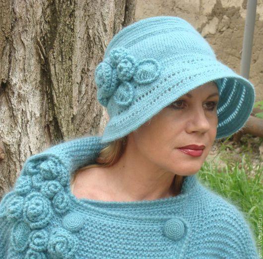"""Шляпы ручной работы. Ярмарка Мастеров - ручная работа. Купить Шляпа  """"Водопад роз"""". Handmade. Бирюзовый, дизайнерская шляпа"""