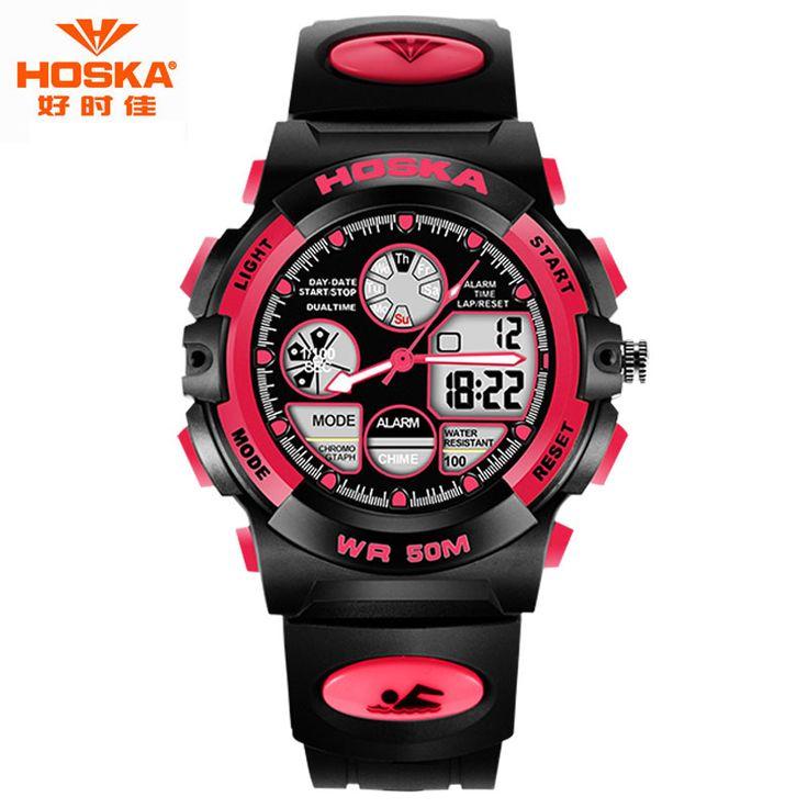$33.55 (Buy here: https://alitems.com/g/1e8d114494ebda23ff8b16525dc3e8/?i=5&ulp=https%3A%2F%2Fwww.aliexpress.com%2Fitem%2FBrand-LOGO-Watch-HOSKA-Casual-Day-Date-Dual-Time-Rubber-Plastic-Band-Scratch-resistant-Digital-Watch%2F32670940729.html ) Digital-Watch Fashion Kids Brand HOSKA Date Time Stopwatch Clock Hours Scratch-resistant Digital Watch relojes deportivos HD003 for just $33.55
