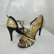 Alexia salomé or et noir - Céline Bussy - Chaussure de Danse et de Mariée