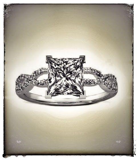 Princess Cut Diamond Infinity Engagement Ring