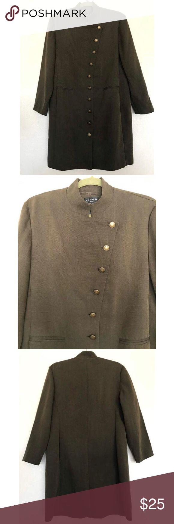 "Vintage Virgo petites coat Green Virgo petites coat.  70% Rayon 30% polyester  Tag size 14 Measurements: Bust 42"" Waist 40"" Hips 42"" Length 34"" shoulder to cuff 22"" Virgo Jackets & Coats"