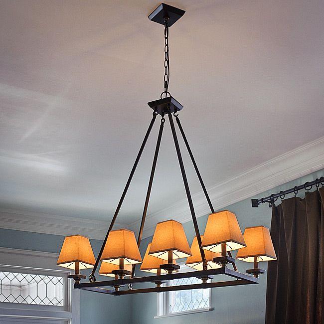 Indoor 8 Light Bronze Chandelier Dining Room