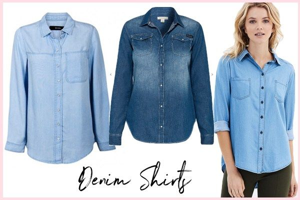 Here are a few of my top denim shirt picks that you can add to your wardrobe right now!
