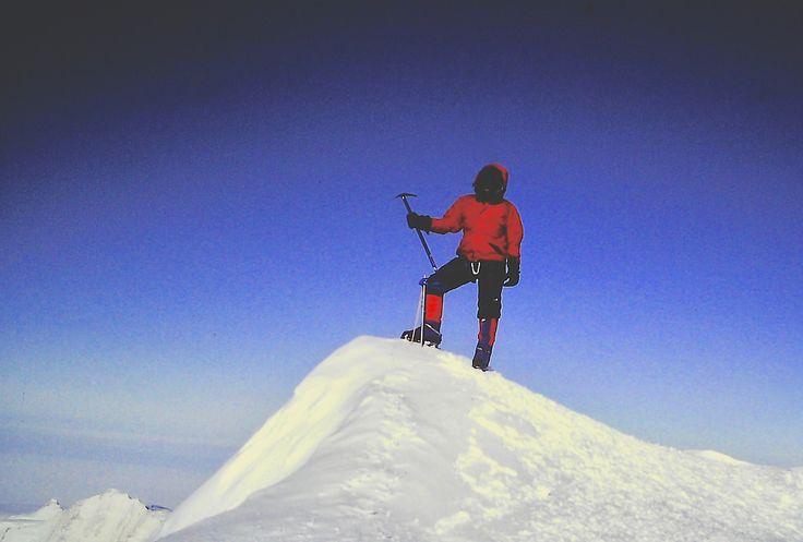 Atop Vinson Massif.