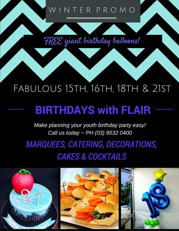 Amazing special offer for a limited time. Check our Facebook promotion online here and ENJOY FREE BALLOONS for YOUR BIRTHDAY - HOORAY! https://www.facebook.com/PartyFoodMelbourne