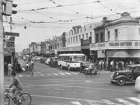1954: Corner of Barkly St and Nicholson St , Footscray