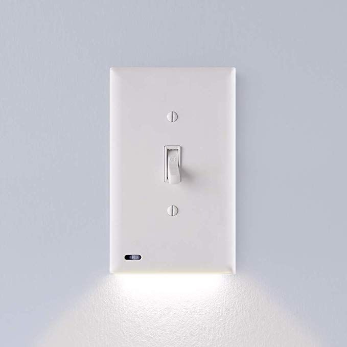 Single Snappower Switchlight Night Light Light Switch Wall Plate With Built In Led Night Lights Bright Wall Switch Plates Plates On Wall Led Night Light
