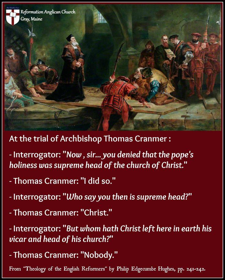 Thomas Cranmer - Trial