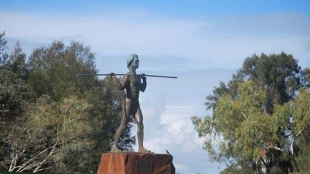 Yagan's statue on Heirisson Island. What's planned to be one of Perth's most iconic public areas is to be named after a famous Aboriginal warrior. The new Yagan Square will be situated within the arms of the Horseshoe Bridge.
